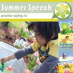 Citra summer speech ideas practicing /s/, book ideas, sink or float
