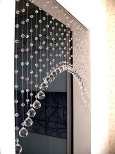 crystal beaded curtainglass beads curtain home decor - shabby chic Rideaux Design, Beautiful Curtains, Unique Curtains, Modern Curtains, Diy Curtains, Curtain Designs, Curtain Ideas, Decoration Table, Decorations