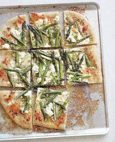 Pizza with Pancetta, Asparagus & Goat Cheese | Williams-Sonoma Taste