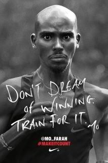 Don´t deam of winning. Train for it.