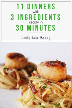 11 Delicious 3 Ingredient Dinners Ready in 30 Minutes or Less - Easy Dinner Ideas - 3 Ingredient Dinners - Easy Dinner Recipes - Dinner Recipes - Quick Dinner Recipes - Weeknight Dinner #dinner #recipes