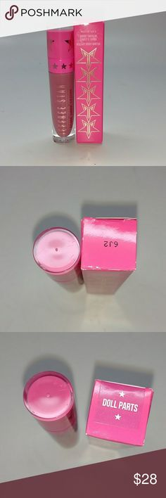 Jeffree star ~ Doll parts Authentic Jeffree Star velour matte lipstick color Doll Parts Brand new with box never used. Copy of original invoice available if requested when purchased. Same day shipping. Trusted seller. Check out my feedback! Sephora Makeup Lipstick