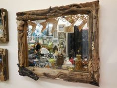 Large Unique Handmade Driftwood Mirror