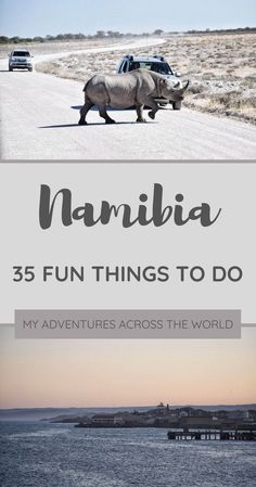Namibia is a fabulous place to visit and there are many things to do there. Traveling around is easy. This post highlights 35 things to do in Namibia Travel Advice, Travel Guides, Travel Tips, Travel Hacks, Travel Packing, Africa Destinations, Travel Destinations, Holiday Destinations, Chobe National Park