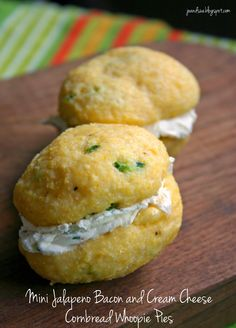 Jo and Sue: Mini Jalapeno Bacon And Cream Cheese Cornbread Whoopie Pies
