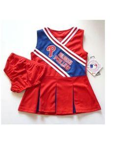 NWT - MLB Philadelphia PHILLIES Toddler Girls 2-pc Cheerleader Outfit Costume 2T #TeamAthletics #PhiladelphiaPhillies