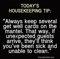 Housecleaning tip
