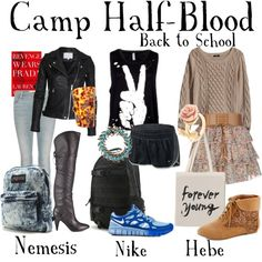 #BackToSchool #percyjackson #camphalfblood @shadowsarepeopletoo Created in the Polyvore iPhone app. http://www.polyvore.com/iPhone