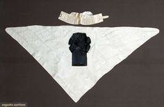 Four Gent's Silk Accessories, 1780-1820, Augusta Auctions, April 9, 2014 - NYC, Lot 248