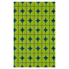 Handmade indoor/outdoor rug with a tile motif.   Product: RugConstruction Material: PolypropyleneColor: