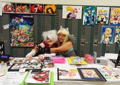 Evercon 2014 Artist Alley booth by DrawnWithLove07