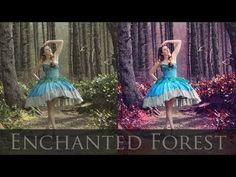 Adobe Photoshop Tutorials CS6 How to Magical Forest vibrant colors contrast…