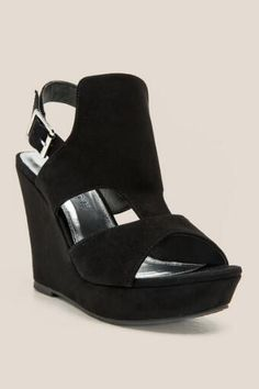 Camillas Cutout Slingback Wedge