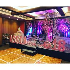 Debut Stage Backdrop Main table backdrop at...