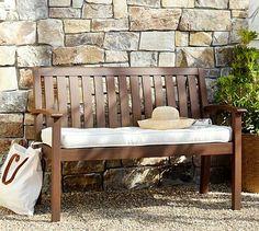 Chatham Porch Bench & Cushion #potterybarn