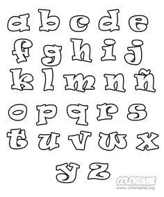 Moldes de letras minusculas para hacer en foami - Imagui