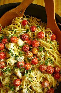 Lemon Garlic Chicken Summer Spaghetti