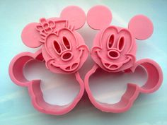 NEW Minnie Mickey Mouse Cookie Cutter Fondant Cake Sugarcraft Sushi Cartoon Mold