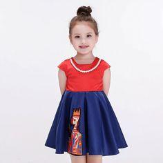 S30038Y Girls Dress Kids Clothes 2016 Autumn Winter Princess Dress for Girls Clothes #dress, #For Kids