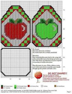 CHECKERED APPLE FLYSWATTER by DAWNMARIE ABEL