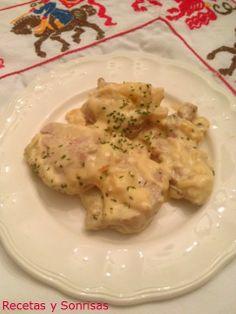 Solomillo de cerdo con manzana y curry http://recetasysonrisas.blogspot.com.es/2014/02/solomillo-de-cerdo-con-manzana-y-salsa.html #meat #pic #food #récipe #curry #aple #tutorial