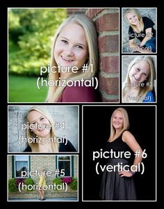 Photo collage cards on pinterest collage storyboard and for Senior photo collage templates