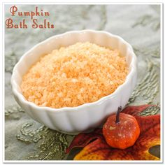 pumpkin bath salts diy - could use any frangrance