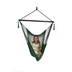 Sunnydaze Green Hanging Caribbean XL Hammock Chair - dillcourtsimages - 3