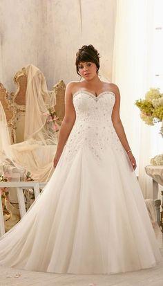 Mori Lee plus size sweetheart wedding dress