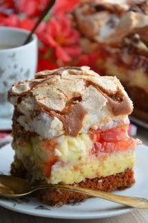 "Ciasto ""nic"" Polish Desserts, Polish Recipes, Cookie Desserts, Fruit Recipes, Cooking Recipes, Unique Desserts, Breakfast Menu, Sweets Cake, Pumpkin Dessert"