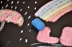 Malen mit Zuckerkreide