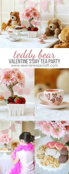Valentines Day Teddy Bear Tea Party for Kids