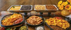 Nacho Bar | your party will be the highlight of the year! nacho bar ideas, christmas parties, superman party, christmas party food, birthday idea, nachos bar, dinner parties, parti idea, graduat parti