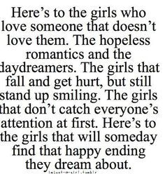 keep waiting. hes out there. <3
