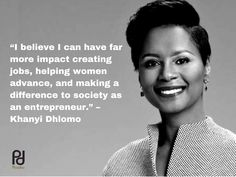 """""""I believe I can have far more impact creating jobs, helping women advance, and making a difference to society as an entrepreneur. Far More, Make A Difference, Make It Simple, I Can, Entrepreneur, Wigs, Natural Hair Styles, Believe, How To Make"""