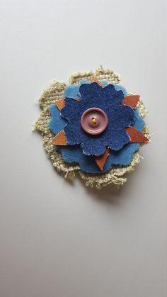 Hair Barrett Handmade Fabric Floral Hair by TheRaggedyBouquet