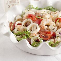 Insalata di calamari e gamberetti. | Colazione da Jo