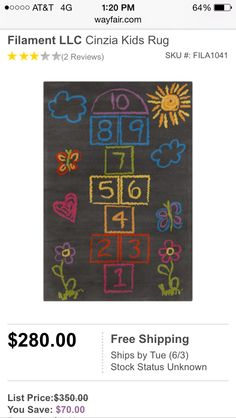 Hopscotch rug from Wayfair