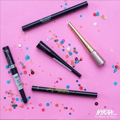 Eyeliners we swear by! What's your go to liner? Comment below & let us know. #NykaaLoves #Instadaily #Makeup #Eyeliner #Beauty #Love #InstaLike #EyelinerOnPoint