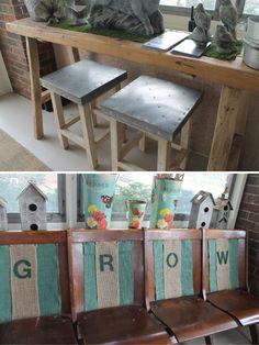 Hammers and High Heels: outdoor garden room