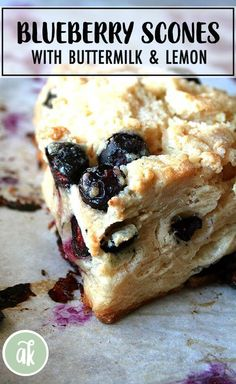 Amazing buttermilk-blueberry scones These scones are buttery flaky crispy on top not too sweet lemony blueberry-y and perfectly delicious Blueberry Lemon Scones, Blueberry Desserts, Blueberry Cake, Blueberry Breakfast Recipes, Easy Bread Recipes, Cooking Recipes, Fun Recipes, Pastry Recipes, Spring Recipes