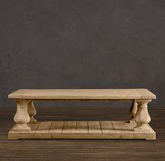 Balustrade Salvaged Wood Coffee Tables (Restoration Hardware)