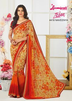 Make a statement by donning this stylish saree. Rich in material and of pure ethnic essence, this saree will be a collector's item in your fabulous collection. Laxmipati Sarees, Stylish Sarees, Saree Shopping, Dubai Fashion, Daily Wear, Bridal Collection, Casual Wear, Print Design, Ready To Wear
