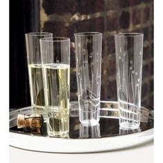 To do:   1.  Become a sparkling wine fan.  2.  Buy these ($2.95 each...really????)