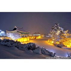 Scenery of Anap-Ji, Kyung-joo, Korea Beauty of human art presented by an artificial lake built in the Shilla Dynesty more than 1500 years ago.