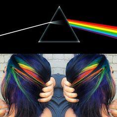 Pink Floyd hair!!