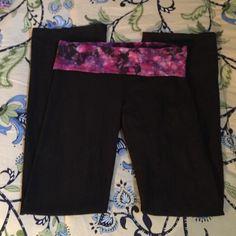 Vs yoga pants Size small Victoria's Secret yoga pants. With purple tie dye band Victoria's Secret Pants Track Pants & Joggers
