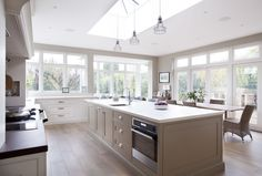Lots of natural light - Tiled timber effect flooring.