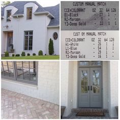 """via Davis Construction Services. The top is for the """"white"""" brick color, the bottom is for the gray trim color."""