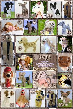 Dogs Part 4 | Animal Crochet Pattern Round Up for Herding, Sporting & Terrier Dogs via @beckastreasures
